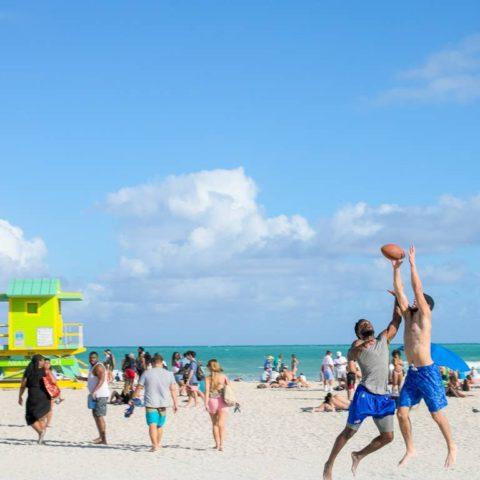 Beach games moment